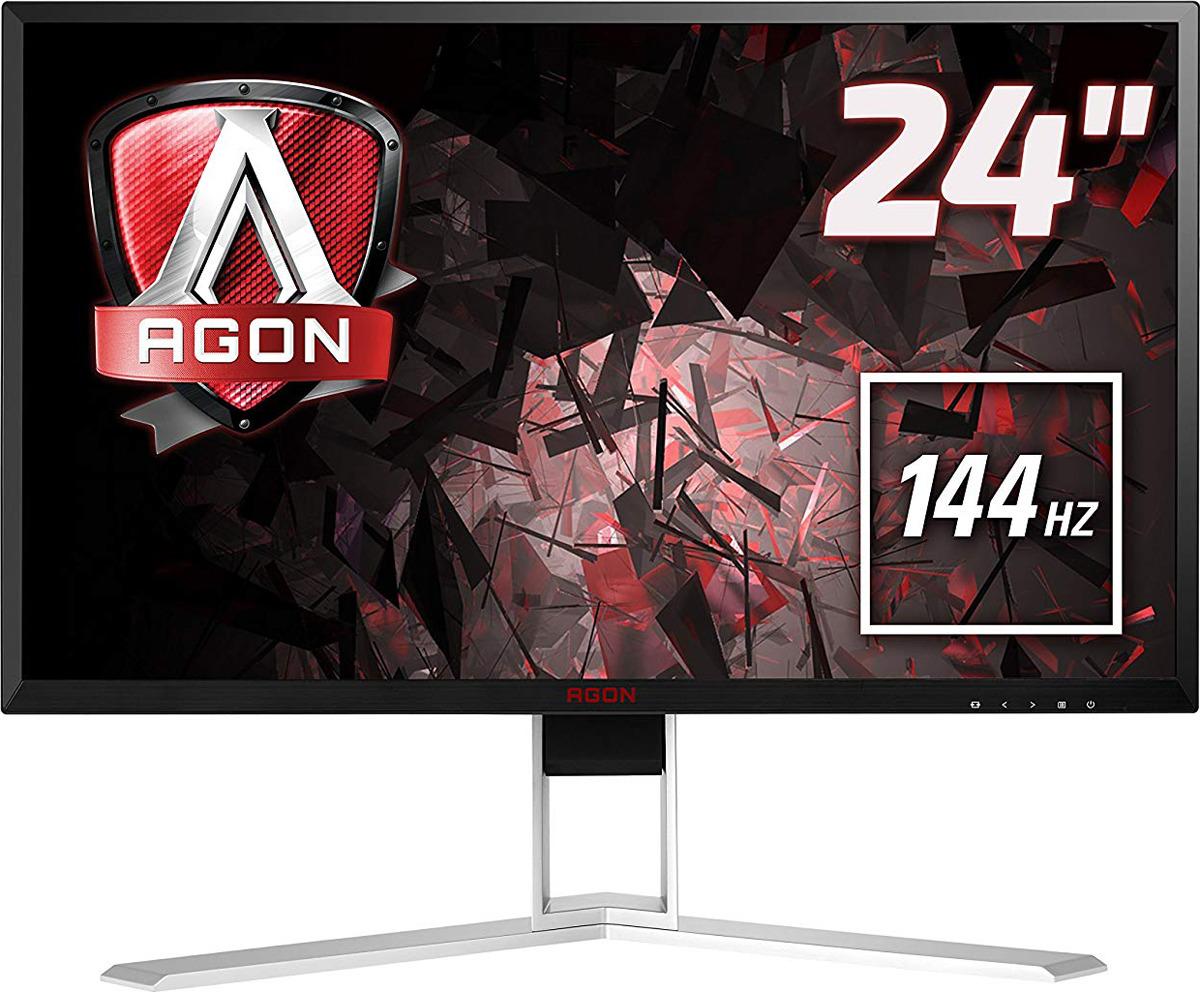 Монитор AOC AG241QX, черный, красный