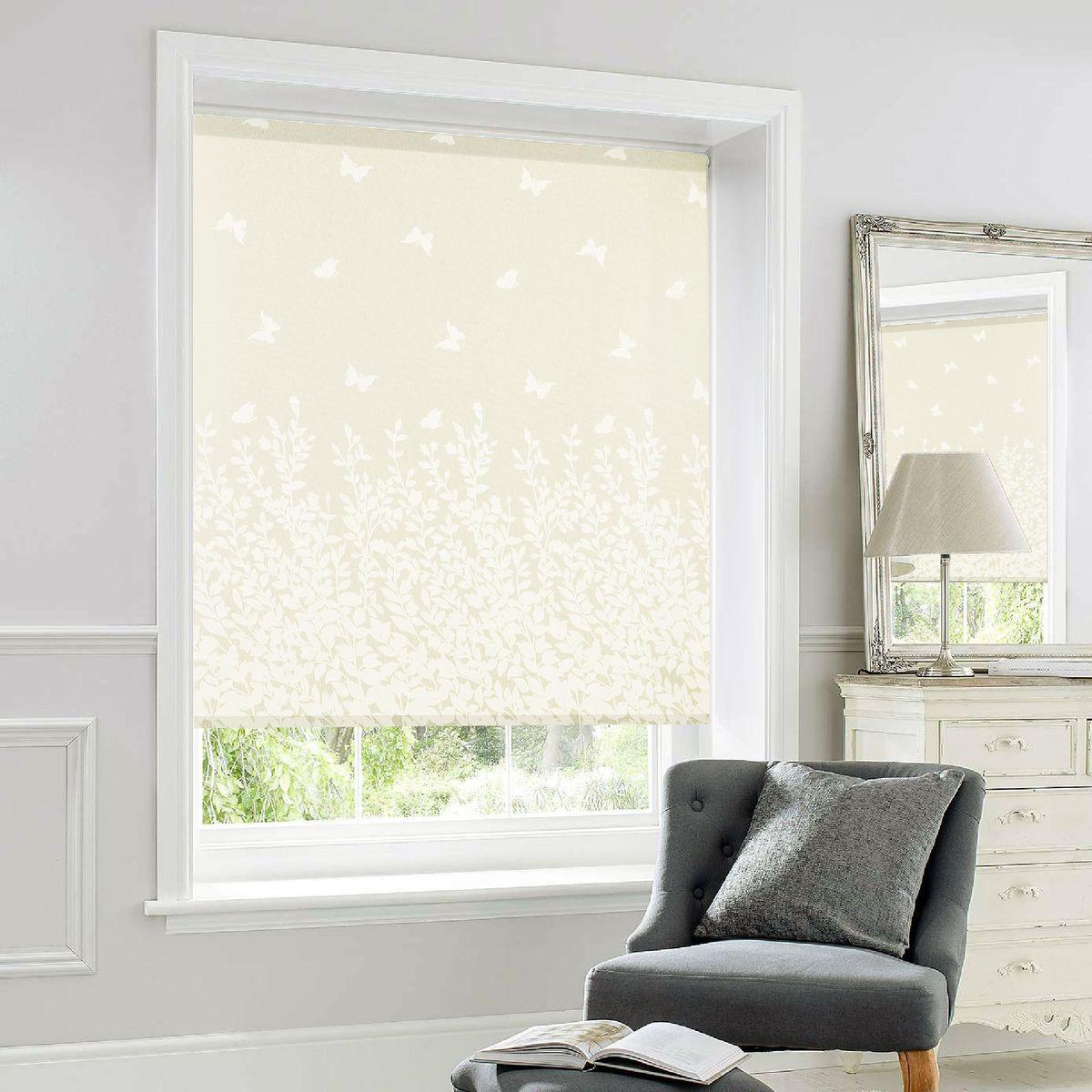 Рулонные шторы Garden (Текстиль) Print Natura, Ширина100 см, Цветочный