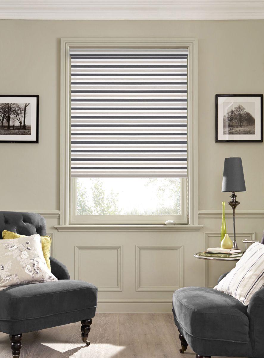Рулонная штора Garden Strip, 2526060/4, серый, 170 х 60 см штора рулонная сити 60х175 см цвет серый