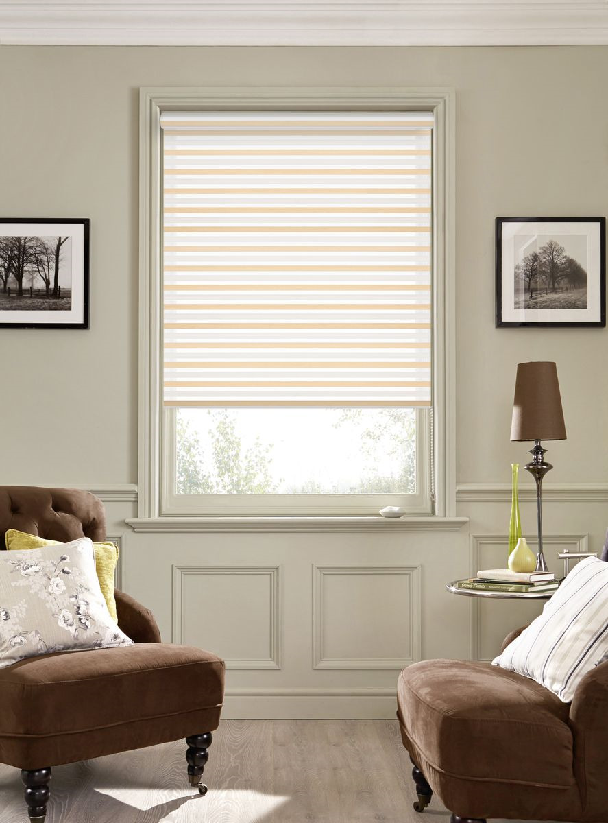 Рулонная штора Garden Strip, 2526100/1, серый, бежевый, 170 х 100 см штора рулонная сити 60х175 см цвет серый