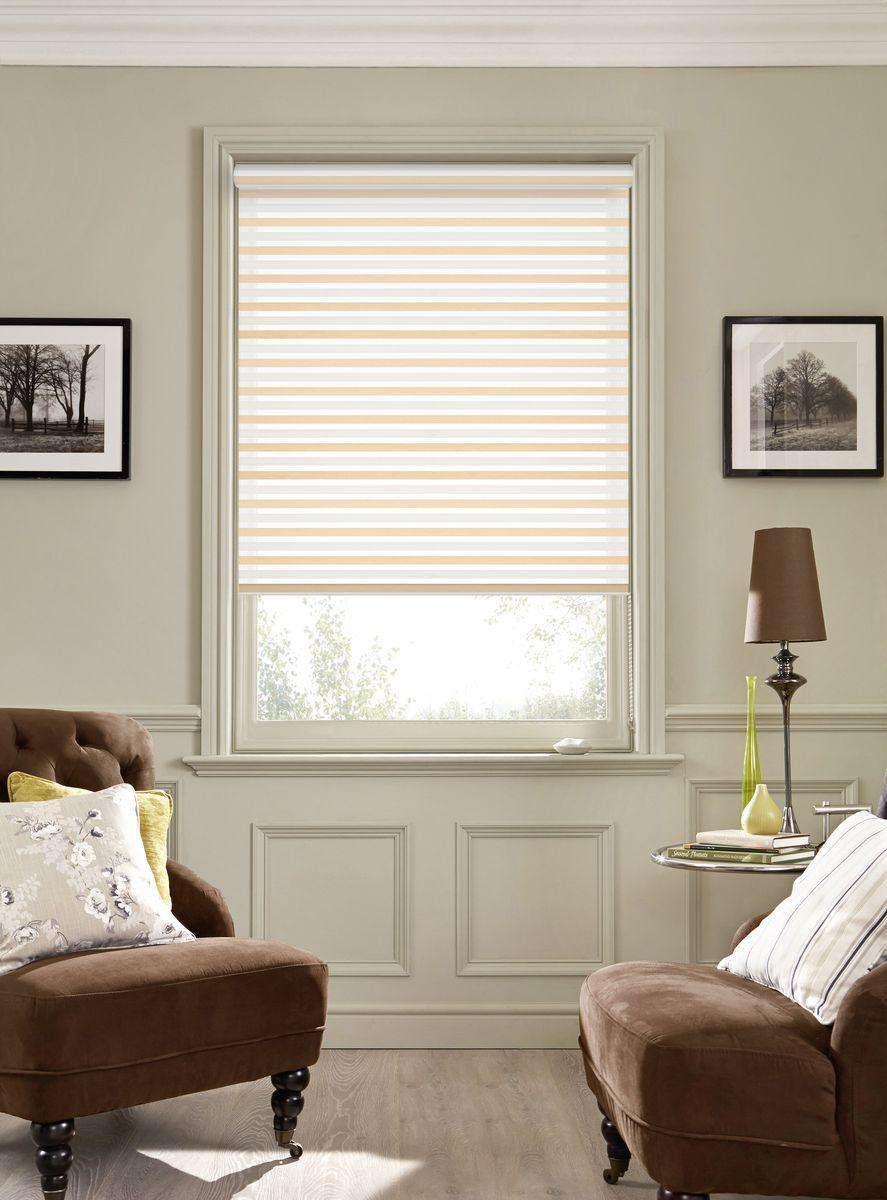 Рулонная штора Garden Strip, 2526050/1, серый, бежевый, 170 х 50 см штора рулонная сити 60х175 см цвет серый