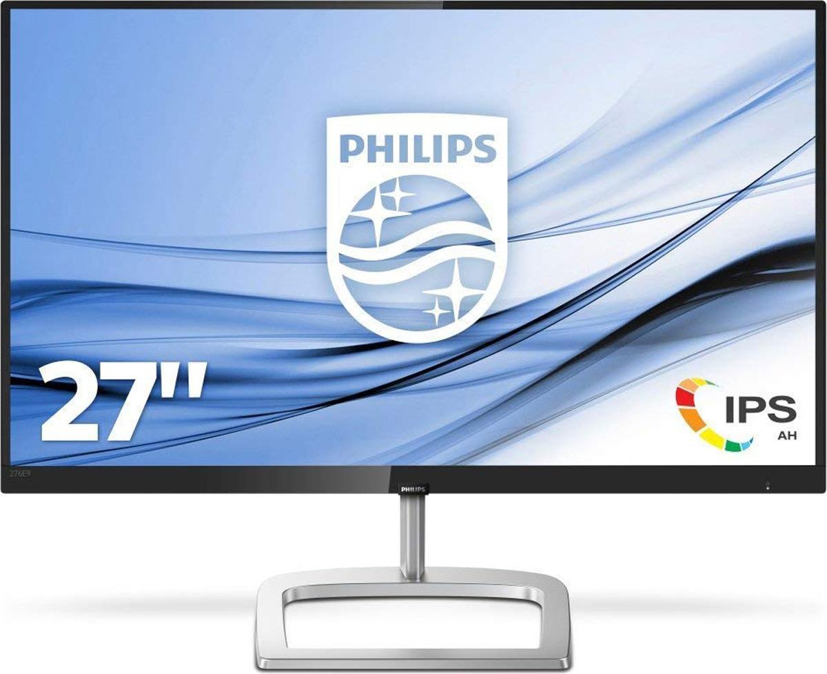 Монитор Philips 276E9QDSB/00, черный, серебристый