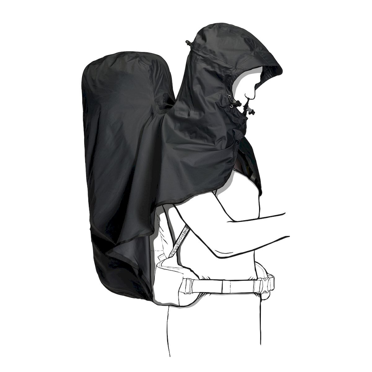 Чехол для рюкзаков Jack Wolfskin Raincover 14-20l, 8002741-6350, темно-серый
