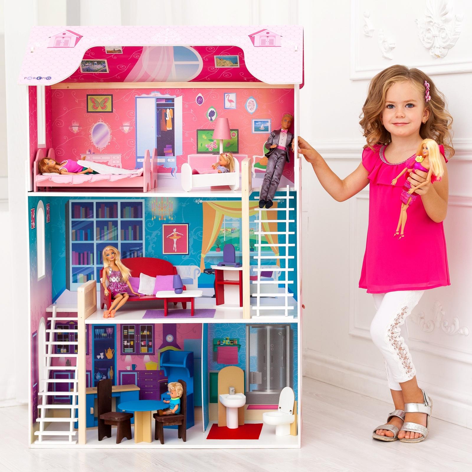 Дом для кукол PAREMO Вдохновение розовый аксессуар защитное стекло для nokia 3 5 inch gecko 0 26mm zs26 gnok3