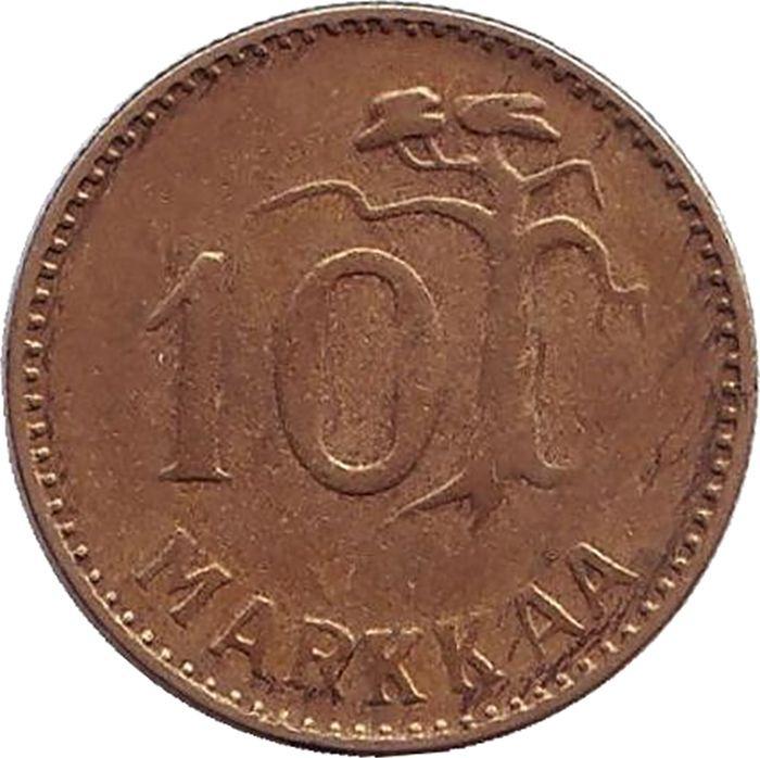 Фото - Монета номиналом 10 марок. Финляндия, 1954 монета номиналом 10 марок финляндия 1932