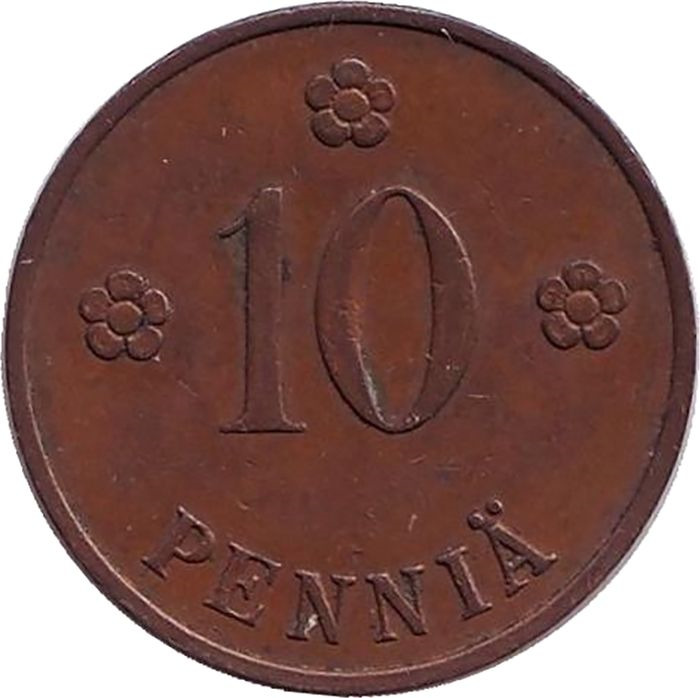 Фото - Монета номиналом 10 пенни. Финляндия, 1934 монета номиналом 10 марок финляндия 1932