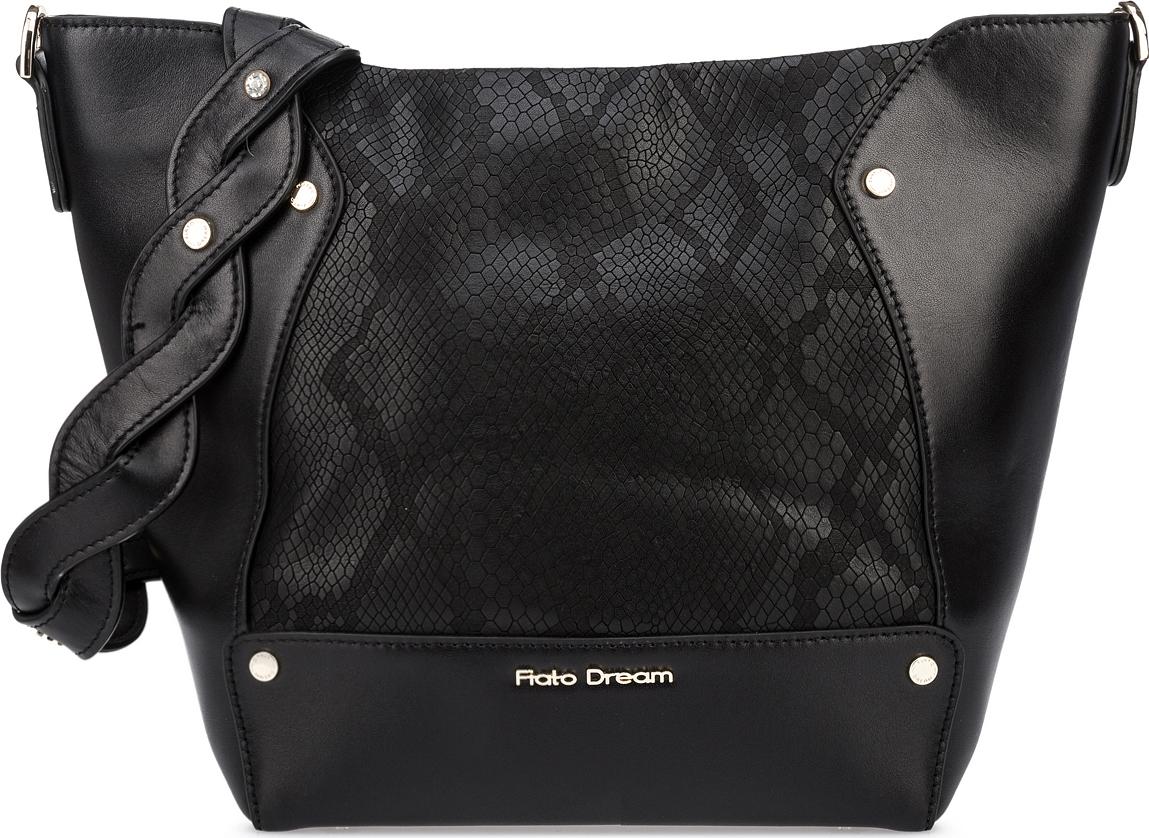Сумка женская Fiato Dream, 1202, черный сумка женская fiato dream 1138 латте