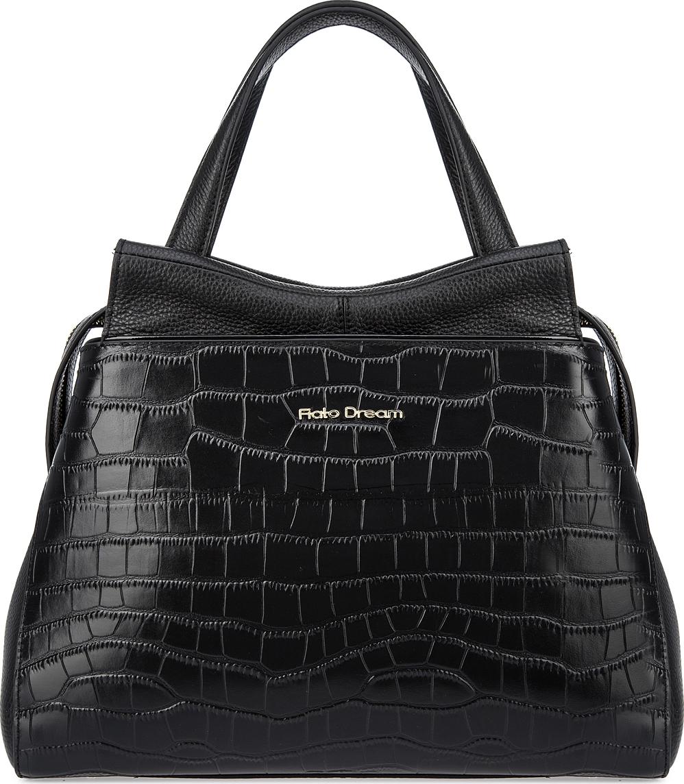 Сумка женская Fiato Dream, 12140_крокодил, черный сумка женская fiato dream 1240 темно зеленый