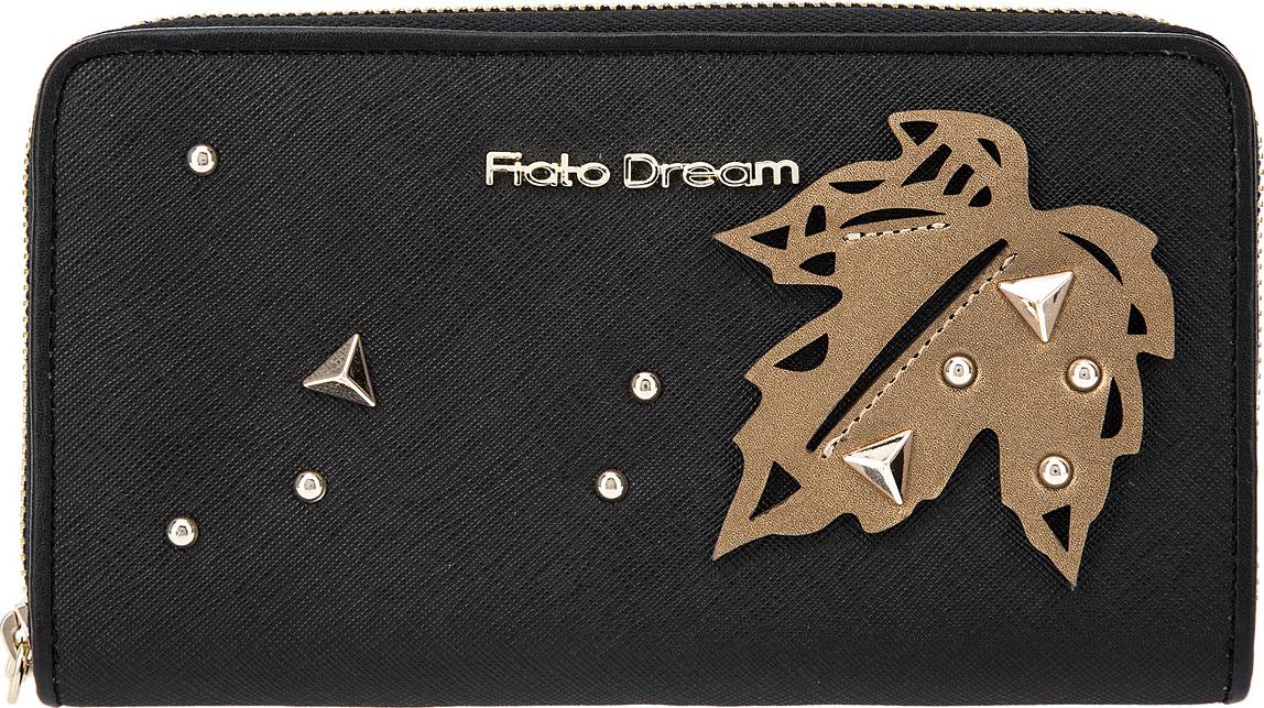 Кошелек женский Fiato Dream, п121, черный кошелек fiato