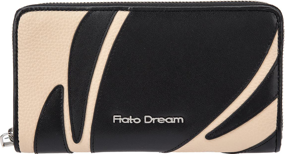Кошелек женский Fiato Dream, п122, черный, бежевый кошелек fiato