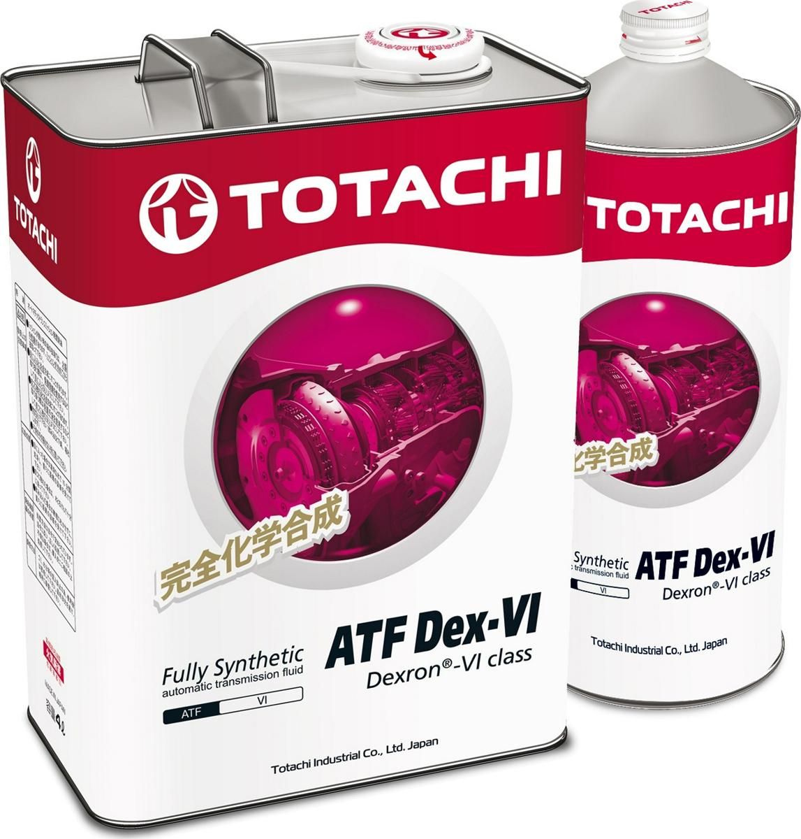 Масло трансмиссионное TOTACHI ATF Dex-VI, 4589904922152, 4 л + 1 л в подарок