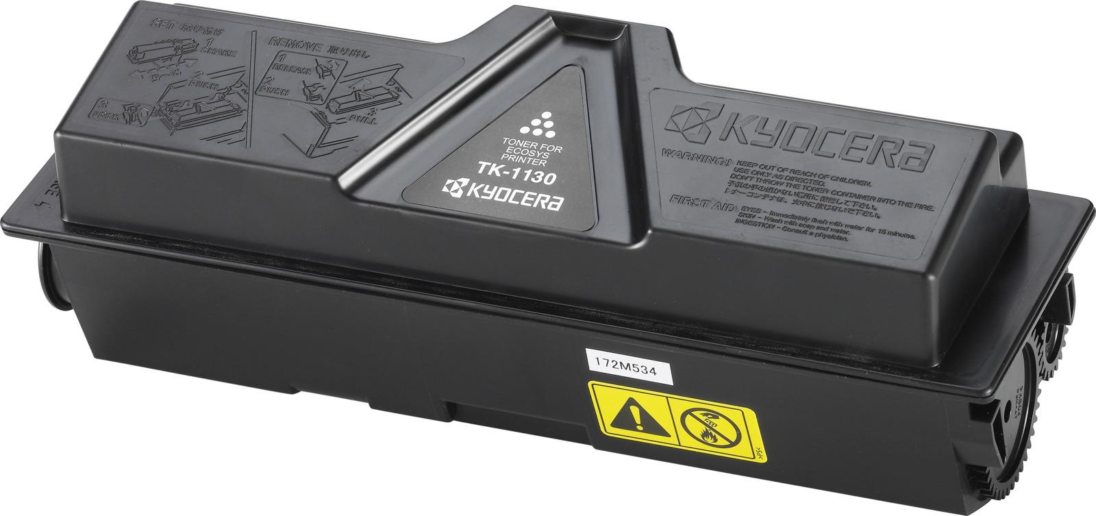 Картридж Kyocera TK-1130, черный, для лазерного принтера кассета в сборе kyocera ct 1130 для fs 1030mfp 1035mfp 1130mfp 1135mfp ecosys m2030dn pn m2030dn m2530dn m2035dn m2535dn 302mh93041 302mh93040