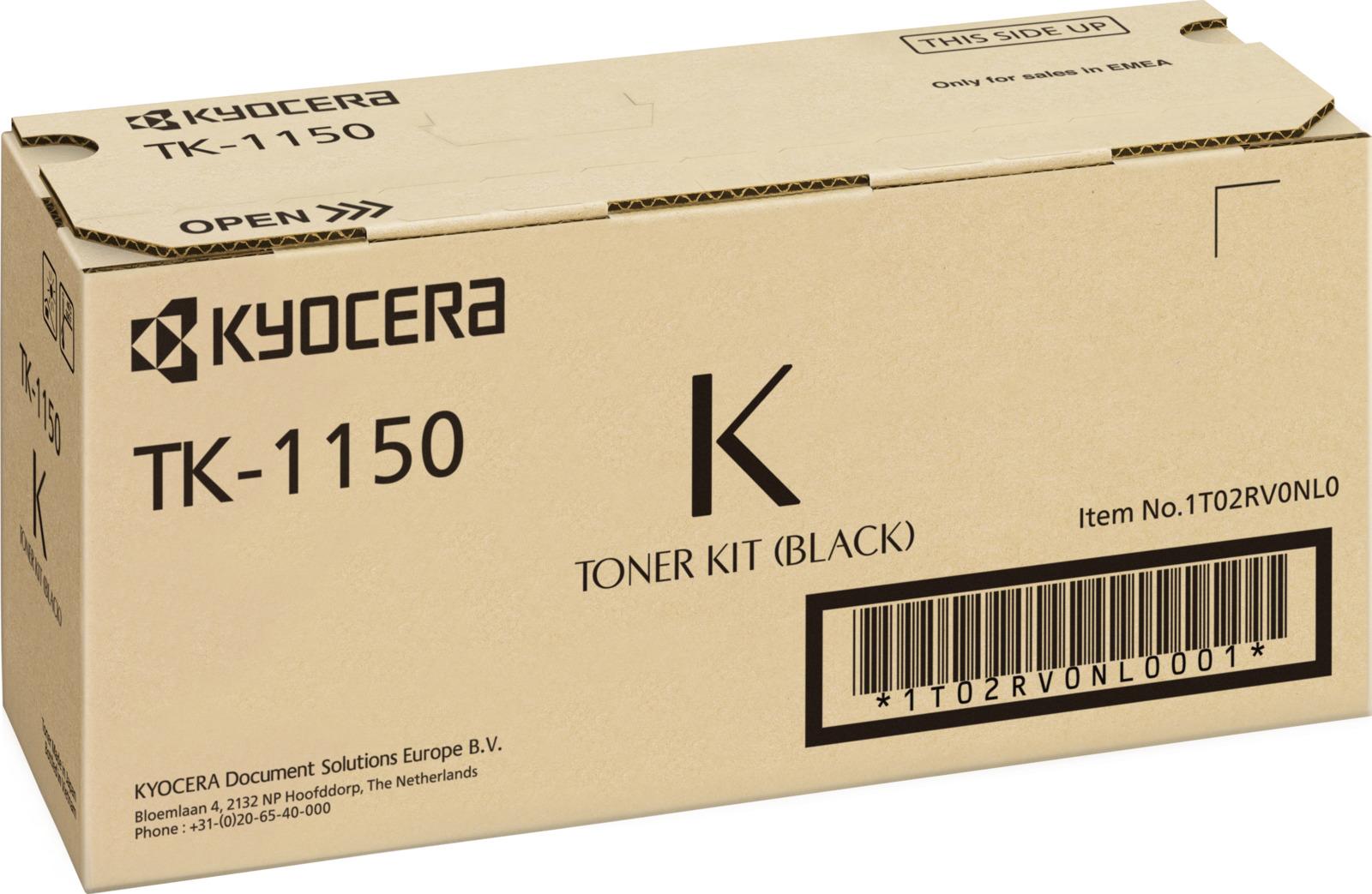 Картридж Kyocera TK-1150 для Kyocera P2235dn P2235dw M2135dn M2635dn M2735dw. Черный. 3000 страниц. тонер картридж cactus cs tk1150 черный black 3000стр для kyocera ecosys p2235d p2235dn p2235dw m2735dw