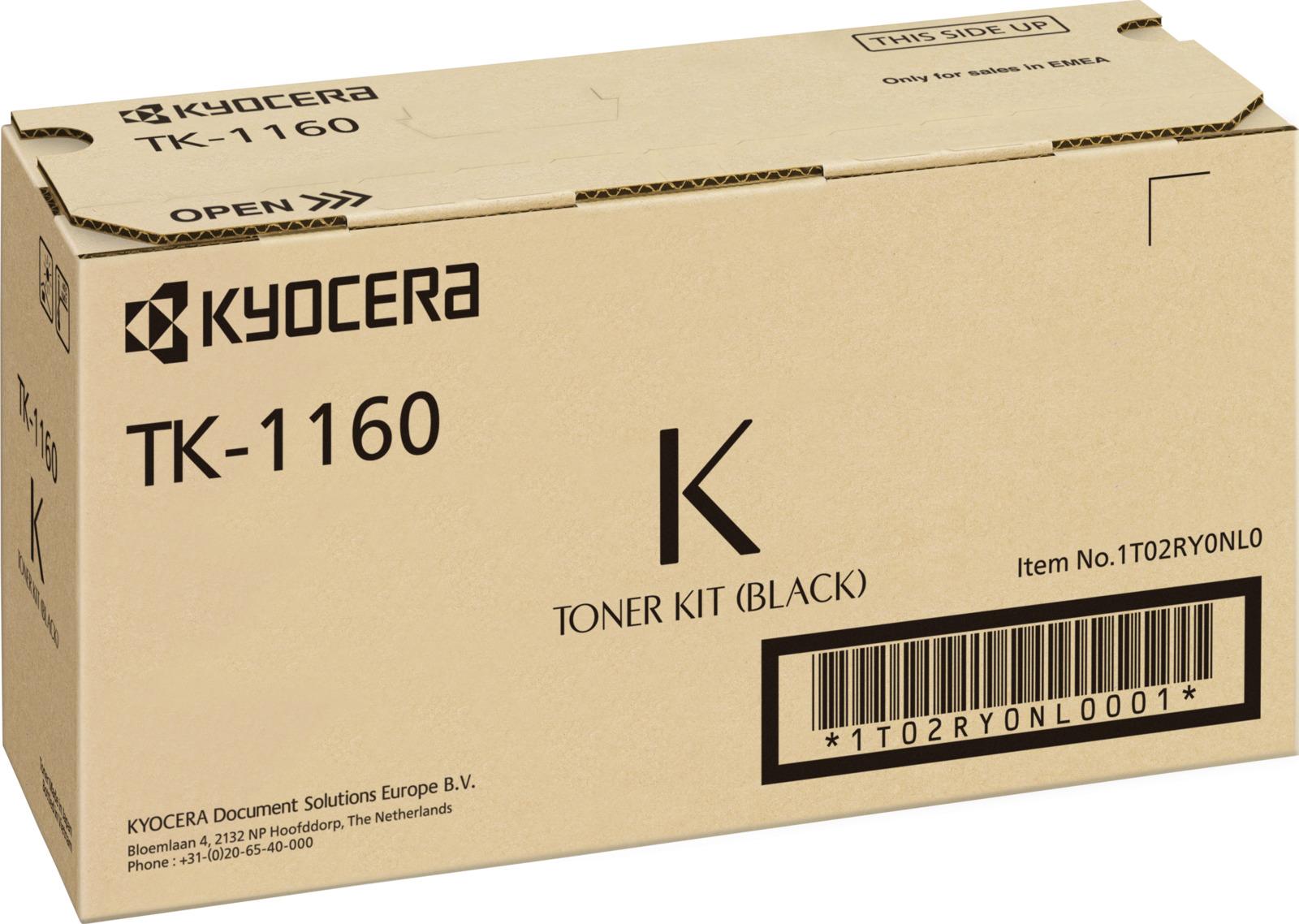 Картридж Kyocera TK-1160, черный, для лазерного принтера