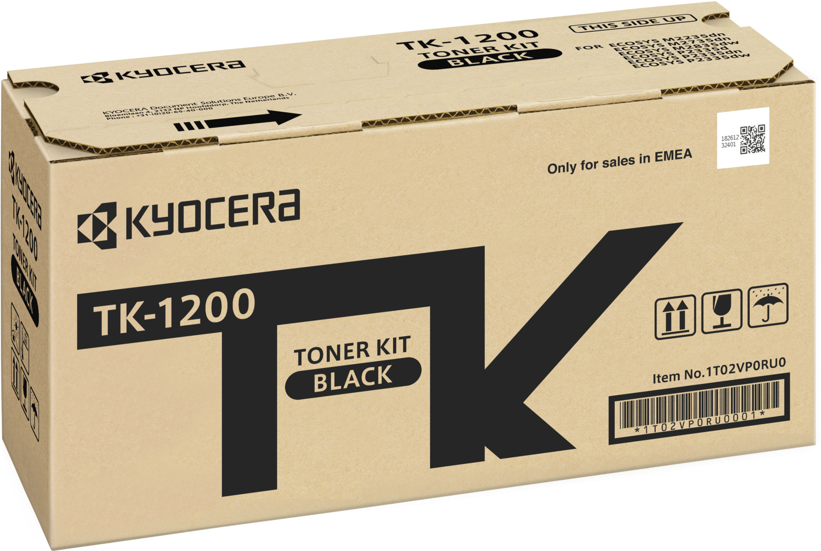 Картридж Kyocera TK-1200 для Kyocera P2335d/P2335dn/P2335dw/M2235dn/M2735dn/M2835dw черный 3000стр картридж kyocera tk 1200 для kyocera p2335d p2335dn p2335dw m2235dn m2735dn m2835dw черный 3000стр