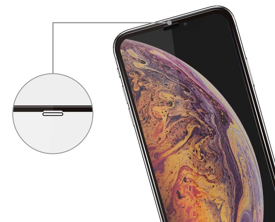 Защитное стекло 3D для Apple iPhone XS Max, , черная рамка защитное стекло blueo 3d антишпион для apple iphone xr черная рамка