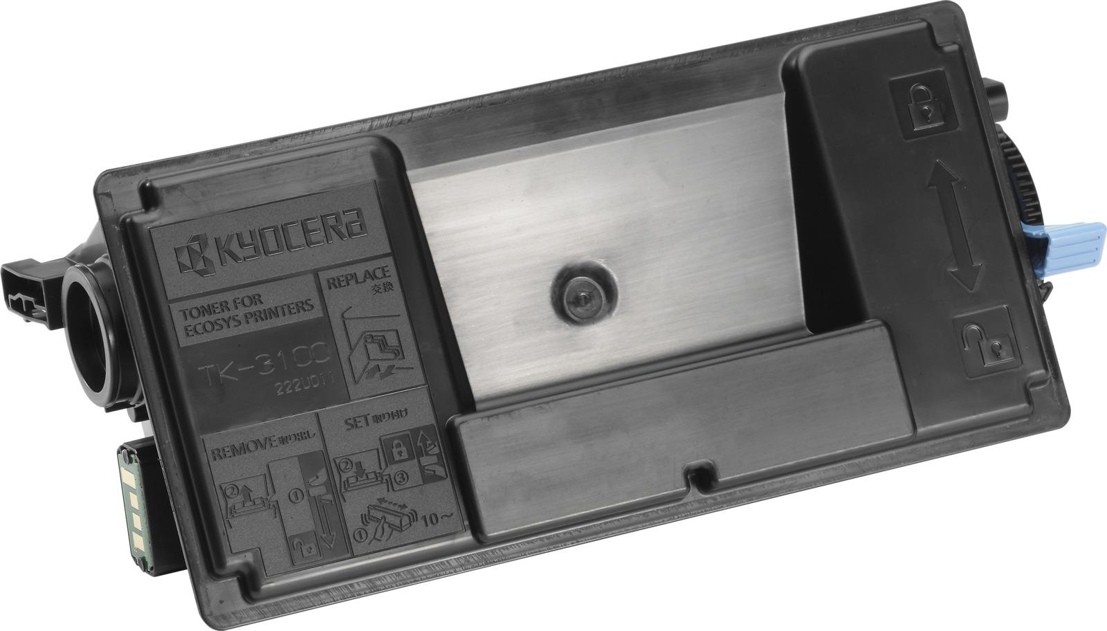 Картридж Kyocera TK-3100, черный, для лазерного принтера стоимость