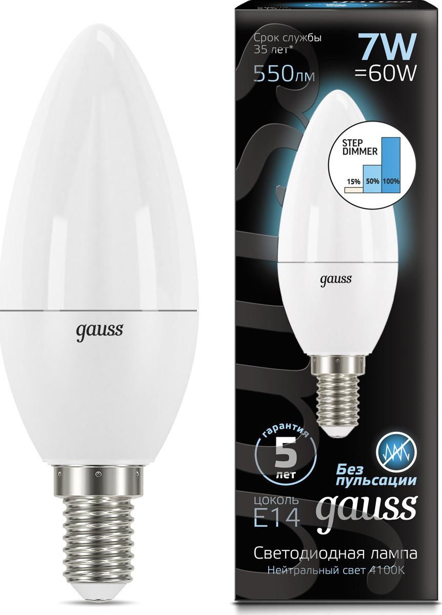 Лампочка Gauss Black LED, свеча, E14, 7W, 103101207-S лампочка gauss gs 105801205