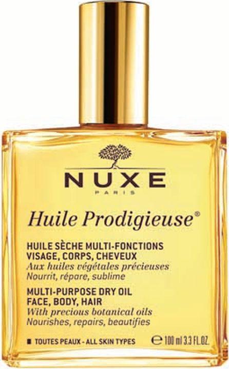 Масло для кожи Nuxe Prodigieuse Сухое Новая формула, для лица, тела и волос, 100 мл nuxe prodigieux multi usage dry oil масло сухое формула 11 50 мл