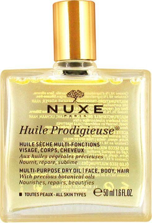 Масло для кожи Nuxe Prodigieuse Сухое Новая формула, для лица, тела и волос, 50 мл nuxe prodigieux multi usage dry oil масло сухое формула 11 50 мл