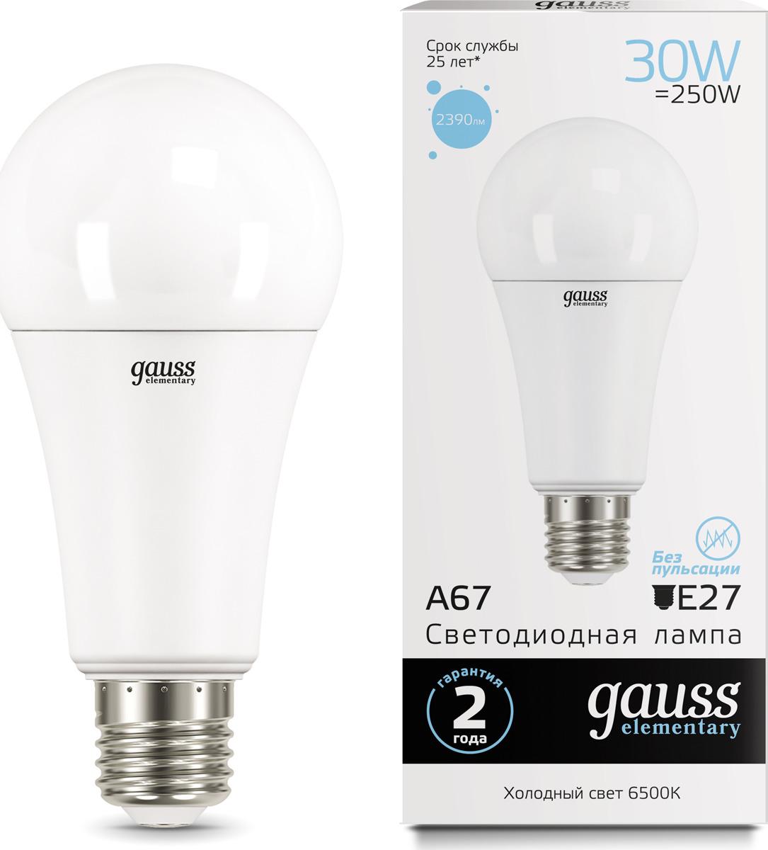 Лампочка Gauss Elementary LED, A67, E27, 30W, 73239