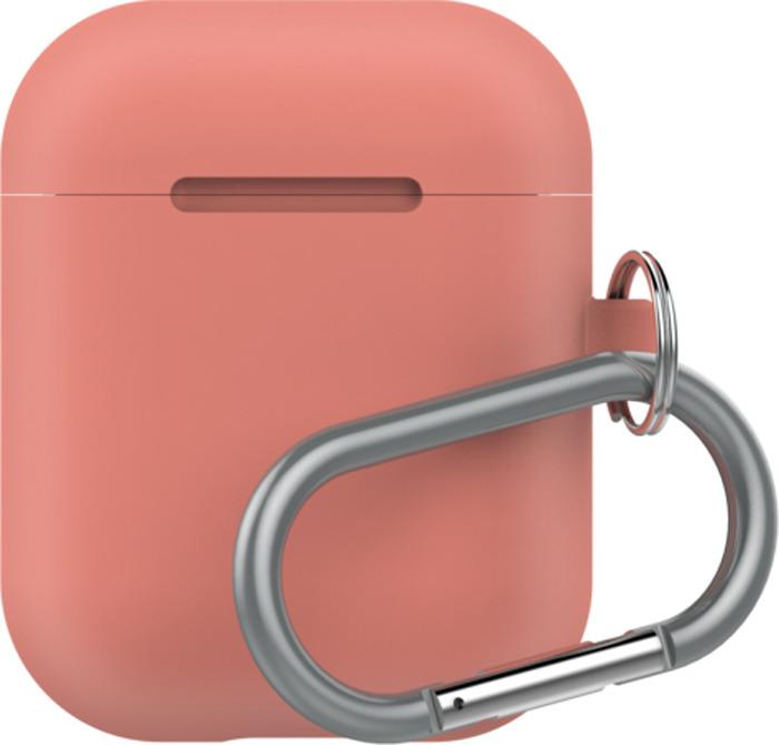 Чехол для наушников LAB.C AirPods Capsule 2in1, коралловый аксессуар силиконовые насадки gs для apple airpods black airs5