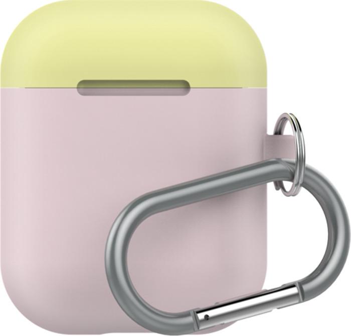 Чехол для наушников LAB.C AirPods Capsule 2in1, розовый, лимонный, белый
