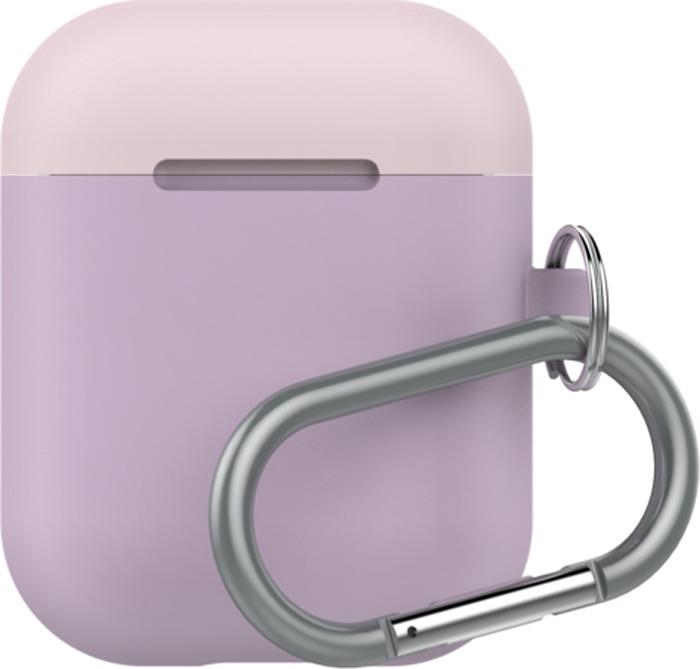 Чехол для наушников LAB.C AirPods Capsule 2in1, лиловый, розовый, белый