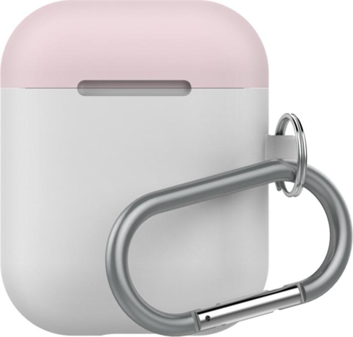 Чехол для наушников LAB.C AirPods Capsule 2in1, белый, розовый, коралловый
