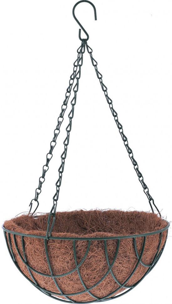 Кашпо Palisad, подвесное с вкладышем из коковиты, полукруглое, диаметр 35 см вкладыш из коковиты garden show сфера в кашпо диаметр 35 см