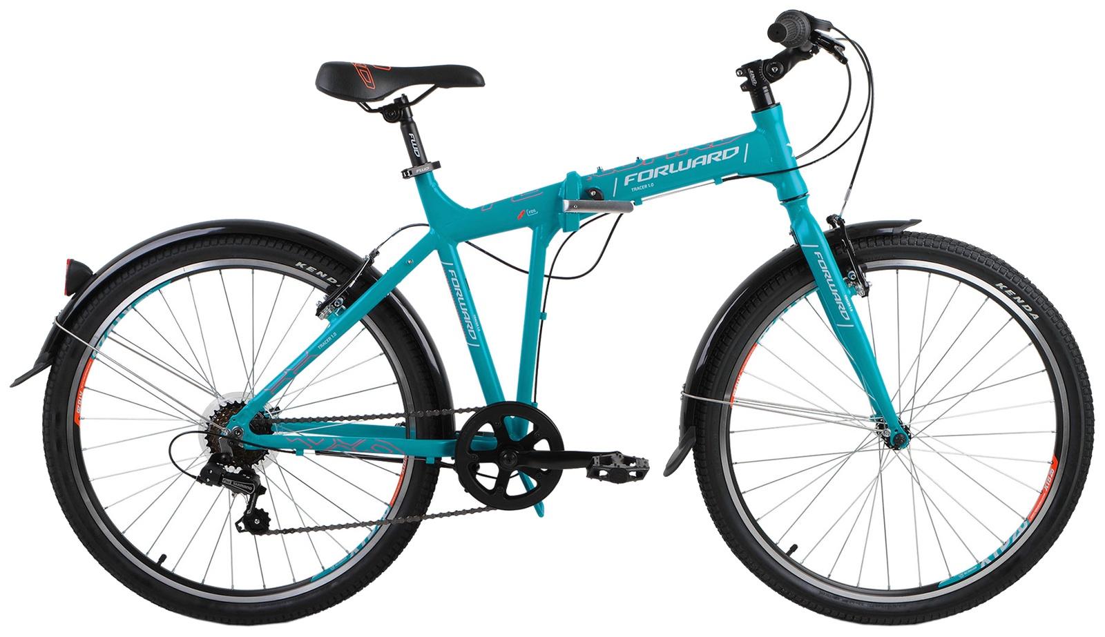 Складной Forward TRACER 1.0, RBKW8R266004, бирюзовый велосипед forward tracer 3 0 рама 17 белый