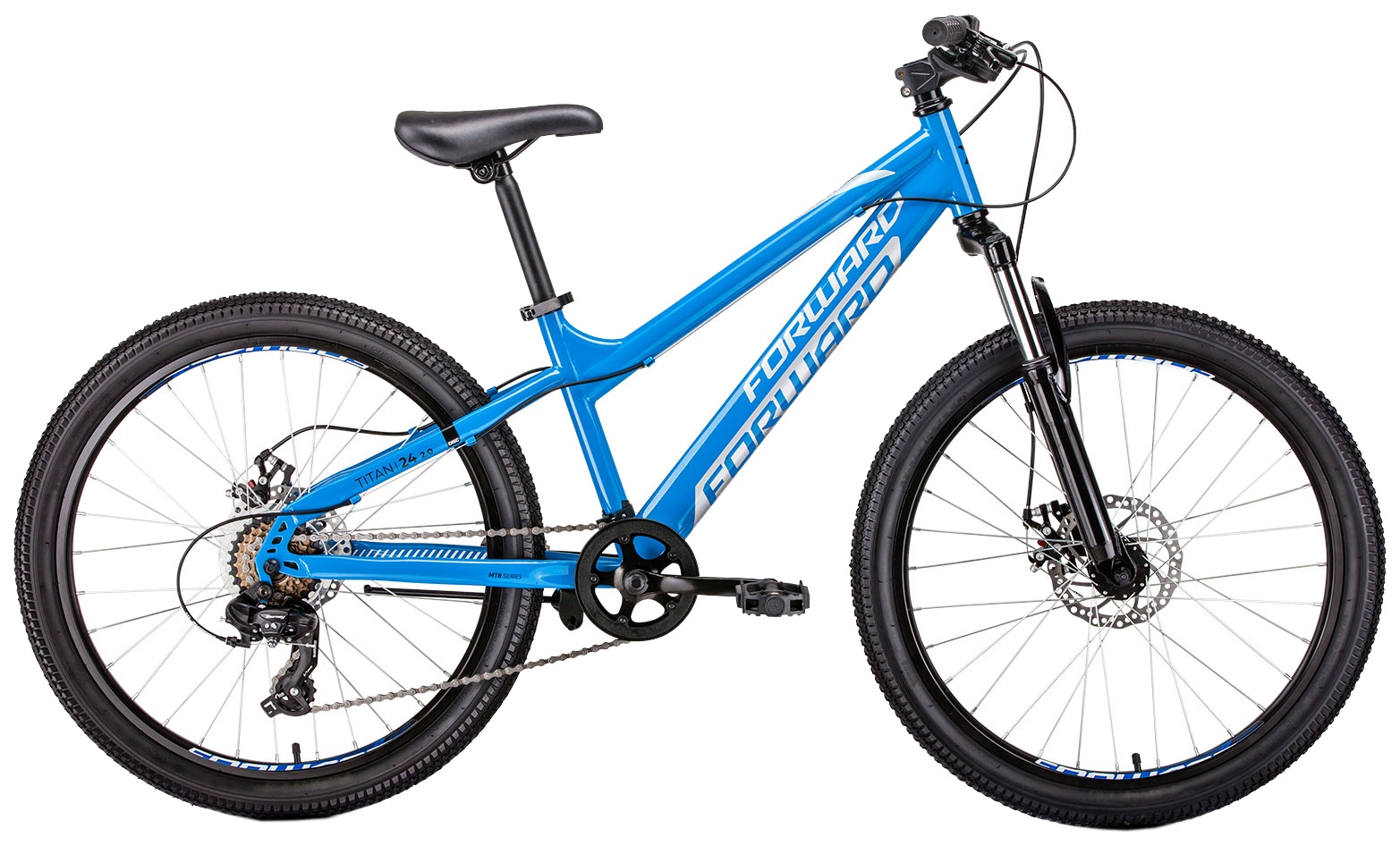 Горный (MTB) Forward TITAN 24 2.0 disc, RBKW91N47005, синий