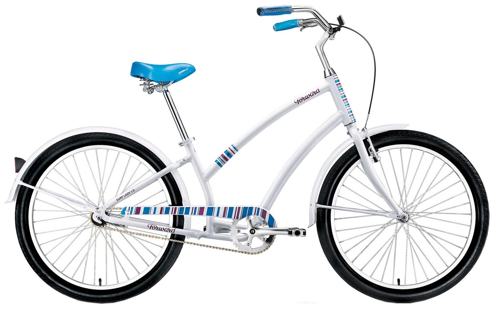 Женский велосипед Forward SURF LADY 1.0, RBKW68661002, белый
