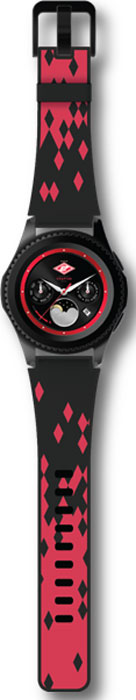 Умные часы Samsung Gear S3 Спартак, Spartak Edition Watch, черный, красный смарт часы samsung galaxy gear s3 frontier sm r760 1 3 титан матовый черный [sm r760ndaaser]