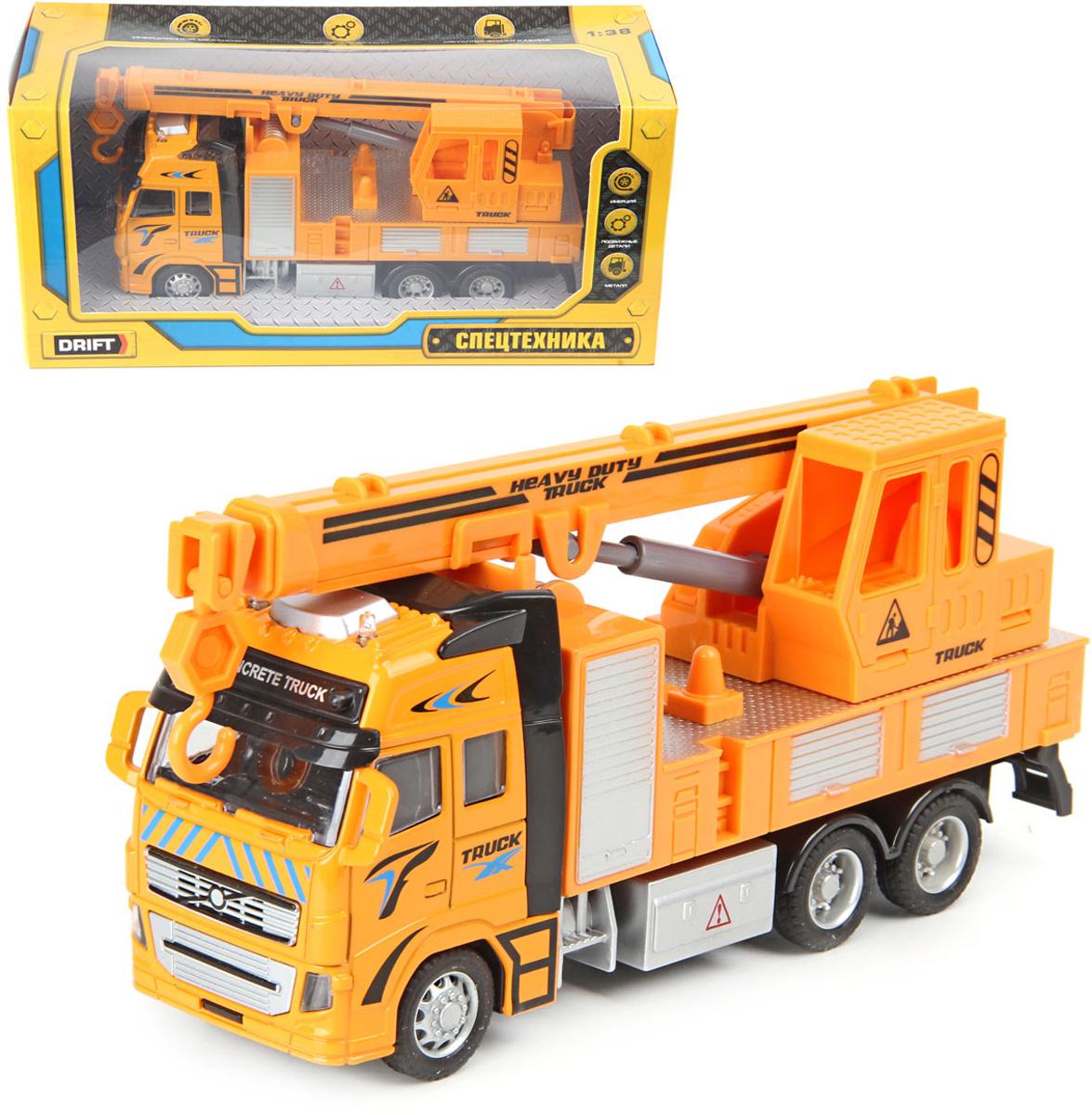 Подъёмный кран инерционный Drift, 1:38, 73380 инерционная металлическая машинка play smart 1 52 грузовик огнеопасно красный 16x6x7 65см