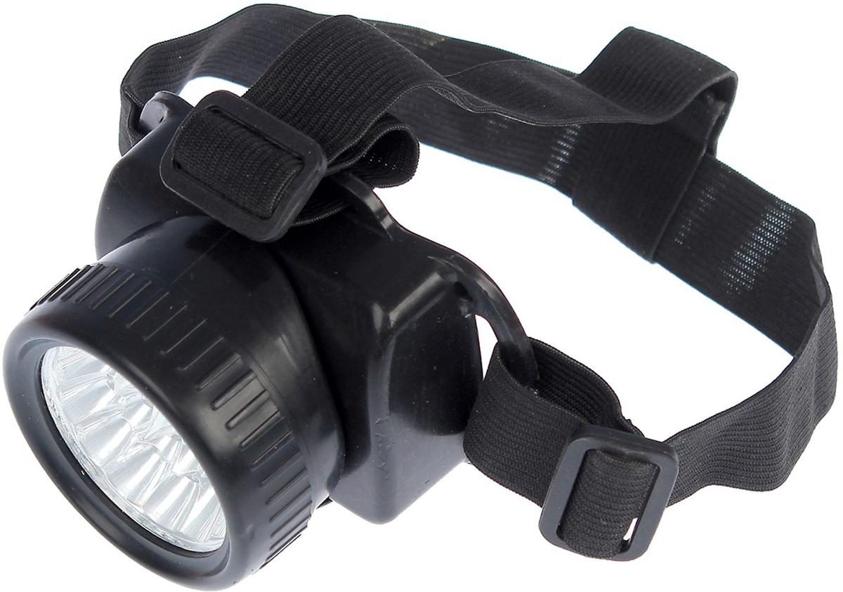 Налобный фонарь, 19 LED, 2376636, черный