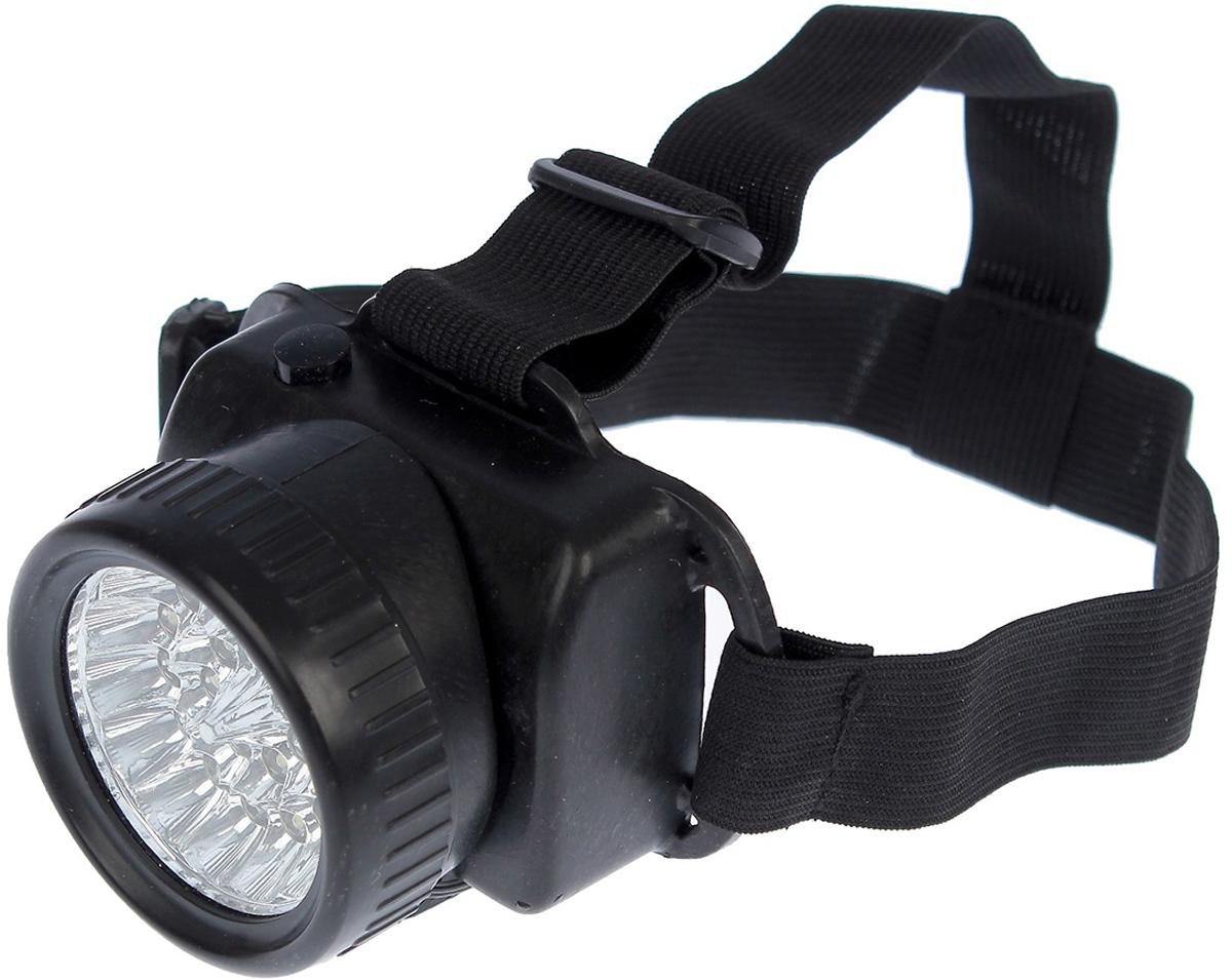 Налобный фонарь, 21 LED, 2376637, черный