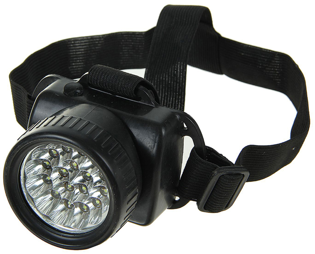 """Налобный фонарь """"Ночь"""", 17 LED, 555027, черный"""