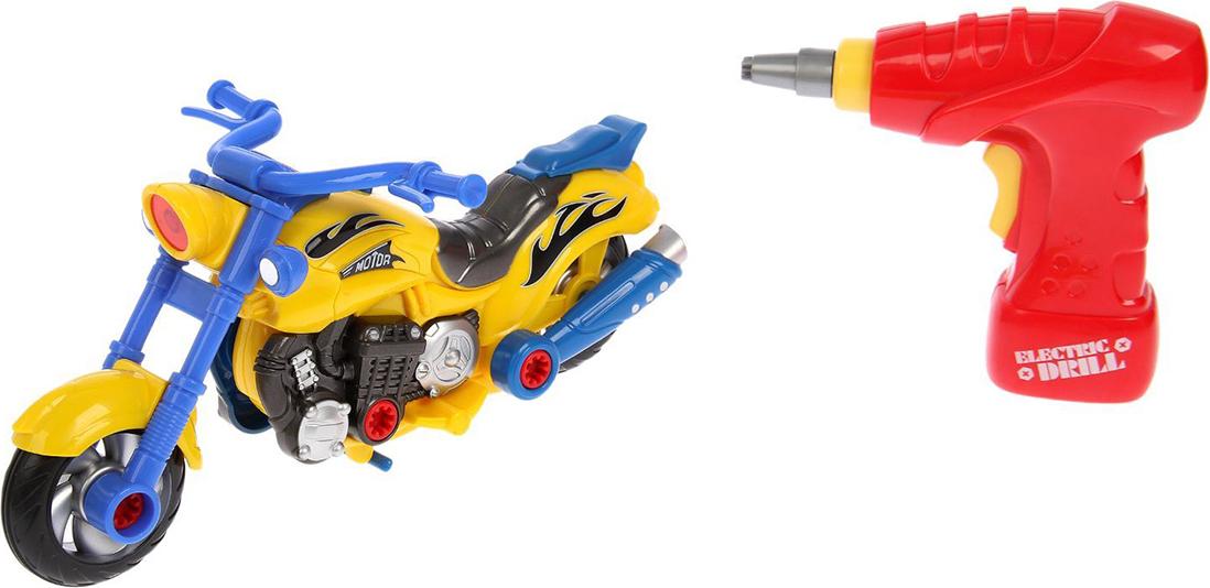 """Конструктор пластиковый """"Мотоцикл"""", 2291235, с электрическим шуруповёртом и обвесами"""