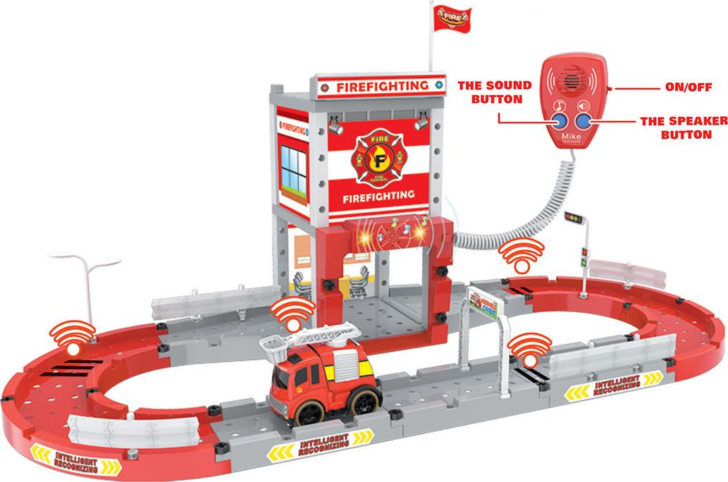 Конструктор Автотрек Пожарная станция, 2610536, с отверткой и рацией игровой набор hasbro город пожарная станция b3415