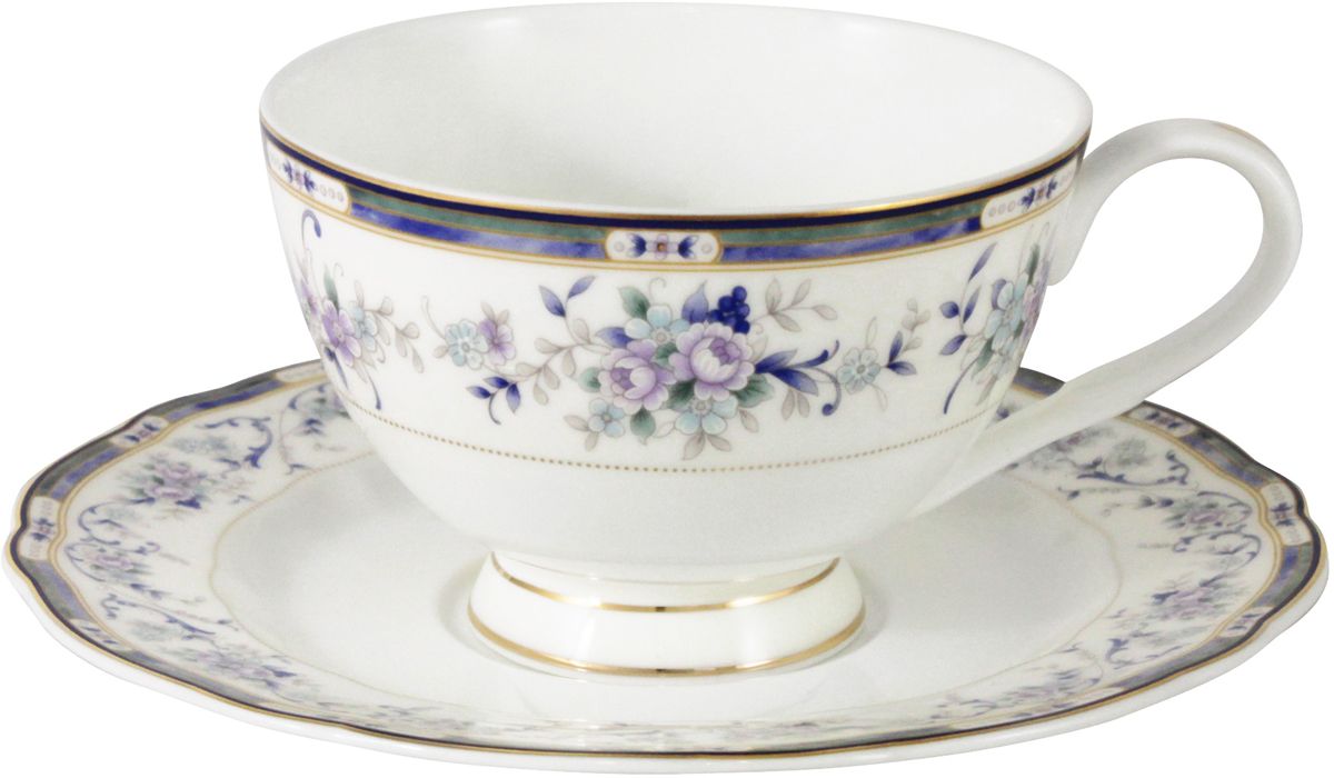 Чайная пара Anna Lafarg Emily Маркиза, AL-M1886/CS-E9, белый, фиолетовый, 200 мл emily henry miljon juunit