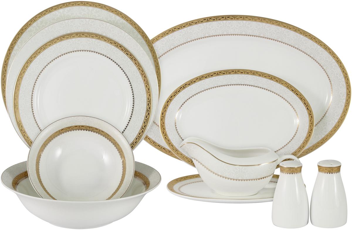 Сервиз обеденный Anna Lafarg Emily Бостон, AL-16908/27-E5, белый, серебристый, 27 предметов цена