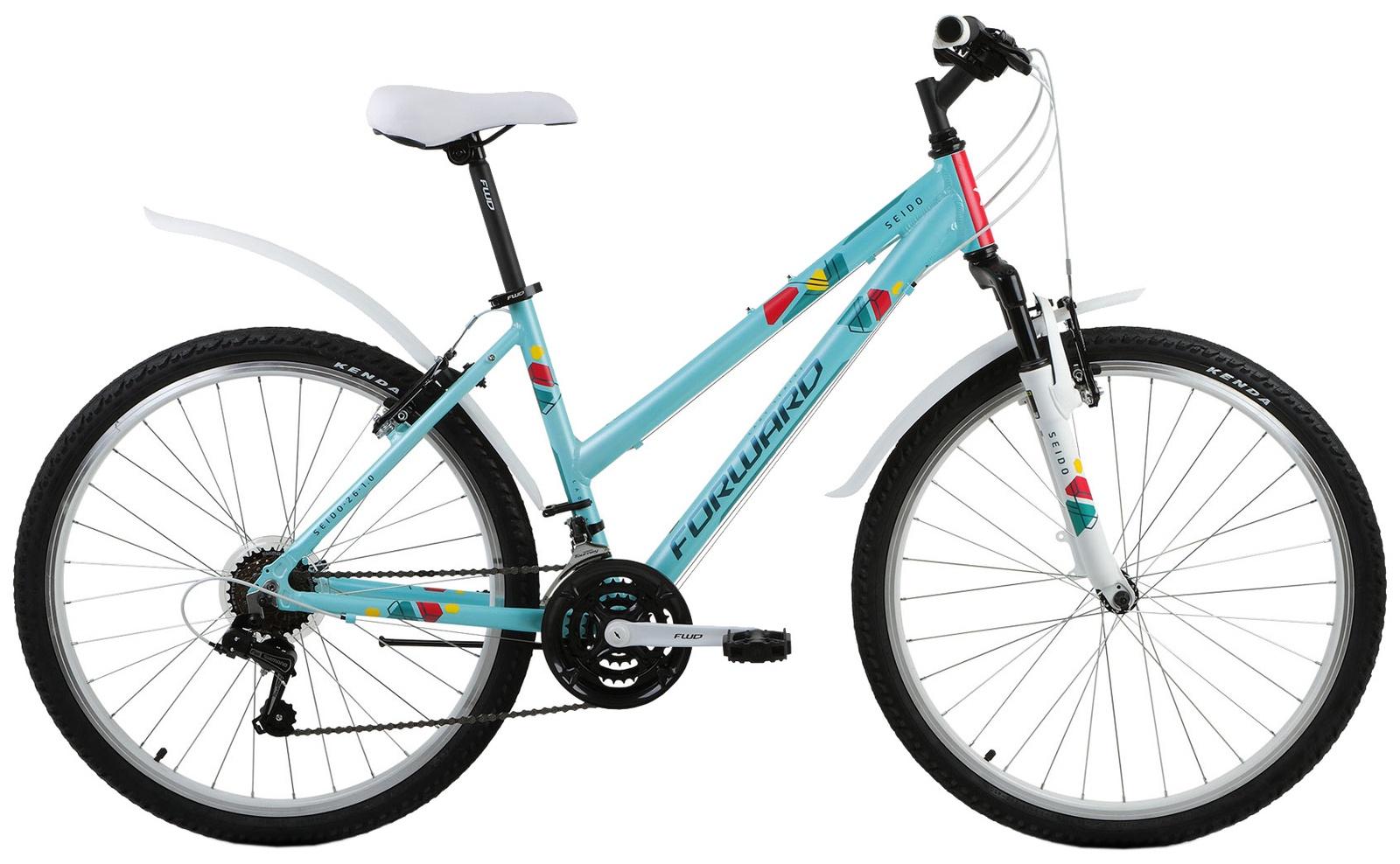Велосипед Forward SEIDO 26 1.0, RBKW8M66P005, зеленый вилка амортизационная suntour гидравлическая для велосипедов 26 ход 100 120мм sf14 xcr32 rl 26