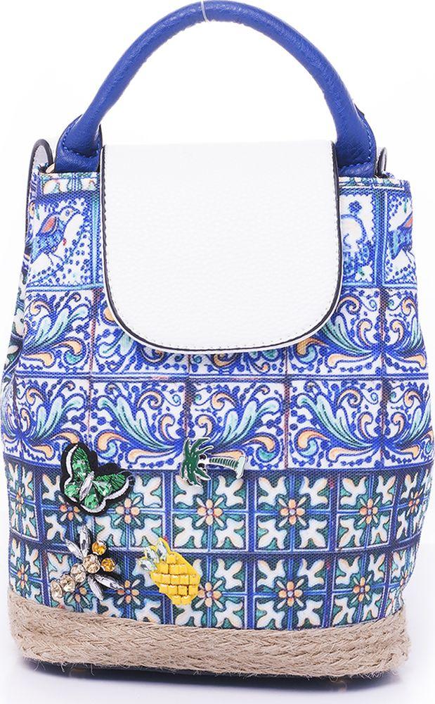 цена Рюкзак женский Baggini, 29117/40, голубой онлайн в 2017 году