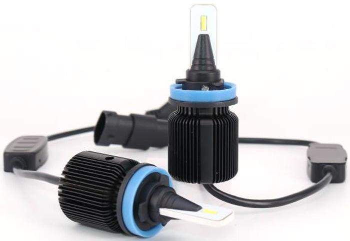 Комплект светодиодных автоламп LED OsnovaLed, H11, 20 Вт, 5000 К, 1600000110274, черный, 2 шт