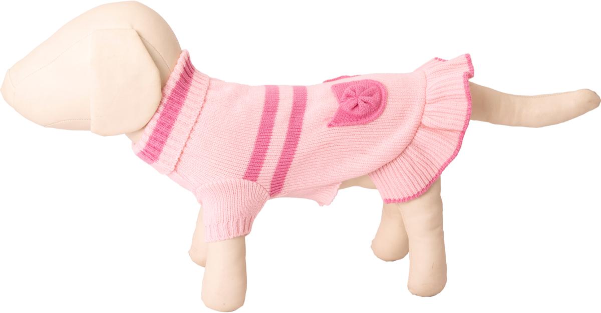 Платье для собак Каскад с высоким горлом, 52000513, розовый, размер M