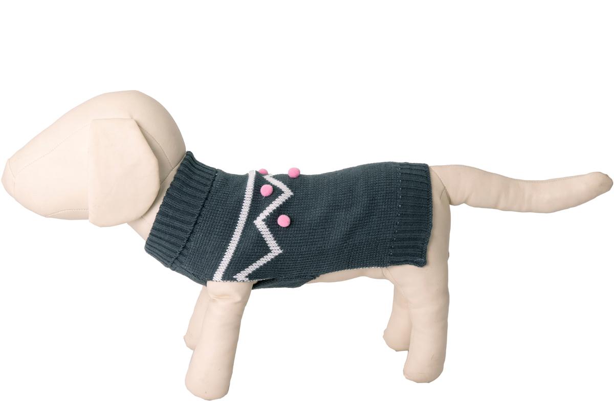 "Свитер для собак Каскад ""Волна"", 52001092, серый, размер S"