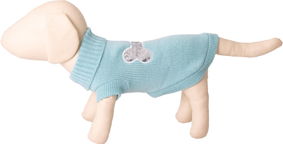 Свитер для собак Каскад Косточка, 52001096, зеленый. Размер S