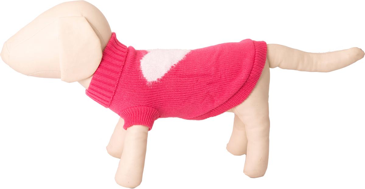 "Свитер для собак Каскад ""Сердце"", 52001107, розовый. Размер M"