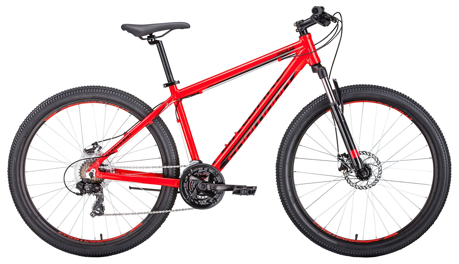 Горный (MTB) Forward Apache 27,5 2.0 disc, RBKW9M67Q025, красный